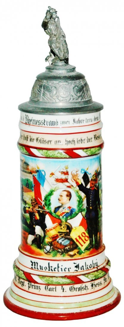 Inft Hess Nr 118 Worms Regimental Stein