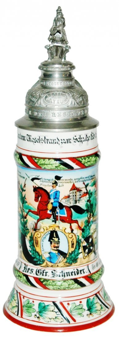 Drag No 9 Regimental Stein