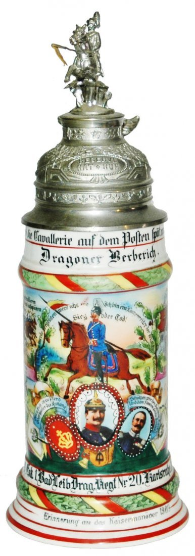 Leib Drag Nr 20 Regimental Stein