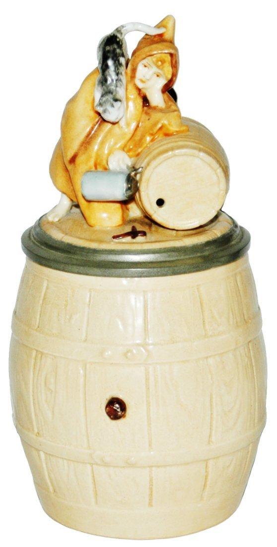 Schierholz Barrel w Munich Child & Cat Stein