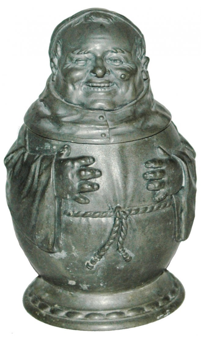 Pewter Monk Character Stein