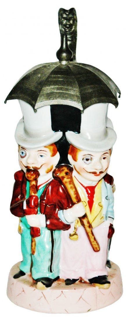 Four Men Under an Umbrella Character Stein