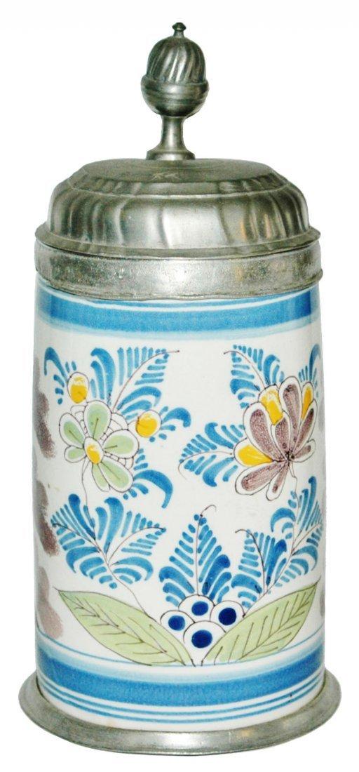 1770 Bayrueth Faience 1L Floral Stein