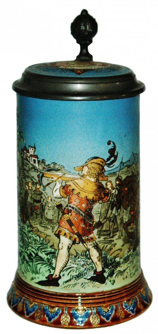 Wilhelm William Tell Etched Mettlach Stein