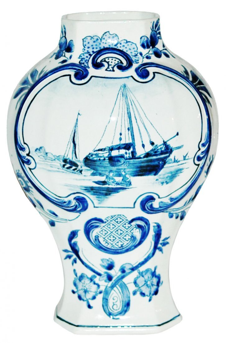 "Sailboat Mettlach 9"" Vase"