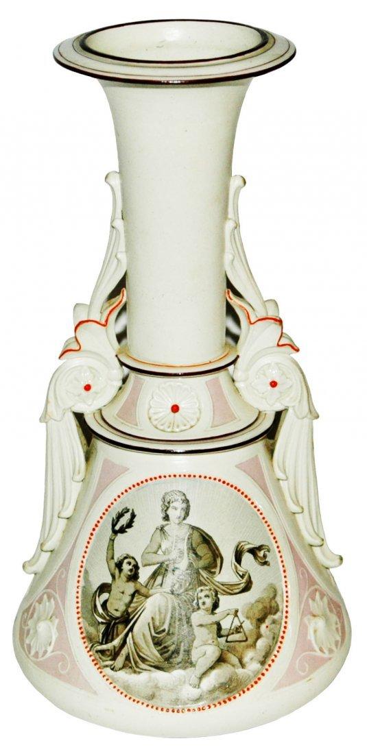 Mettlach Parion Vase w Women & Cherub Scenes