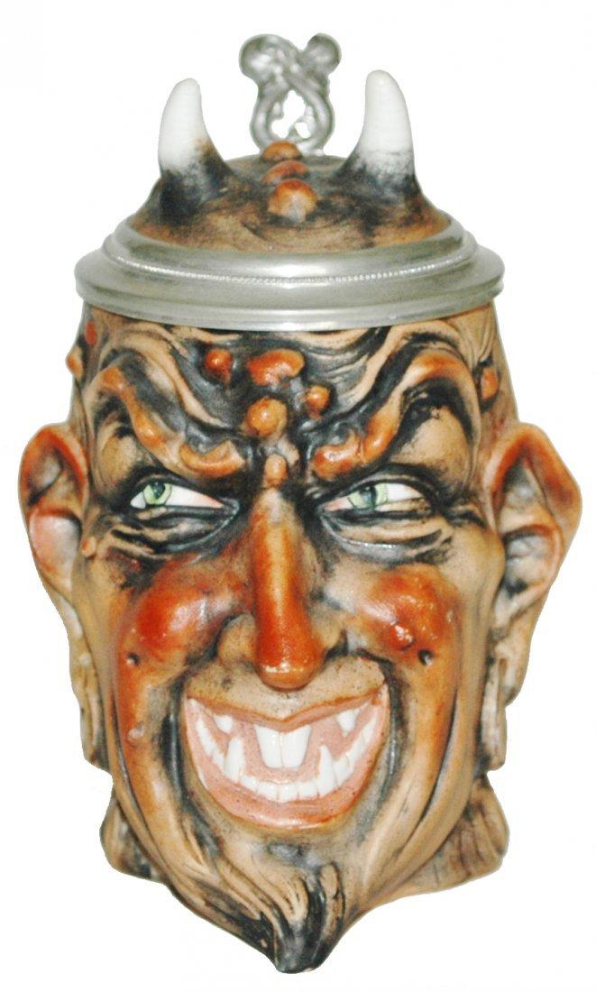 Satan Bohne Porcelain Character Stein