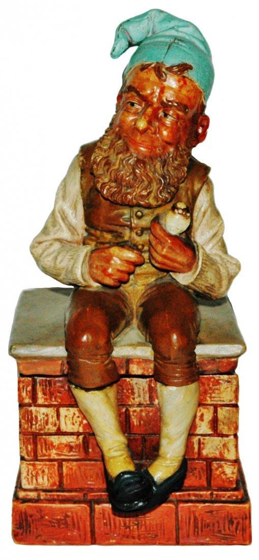 Dwarf on Chimney Tobacco Jar