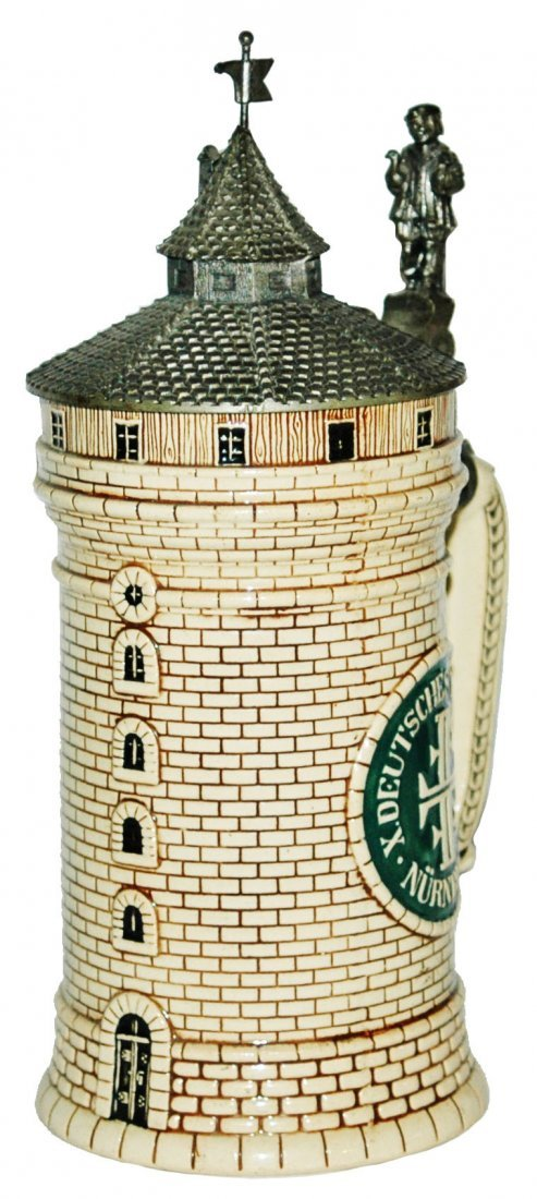 Pottery Nurnberg Tower Character Stein