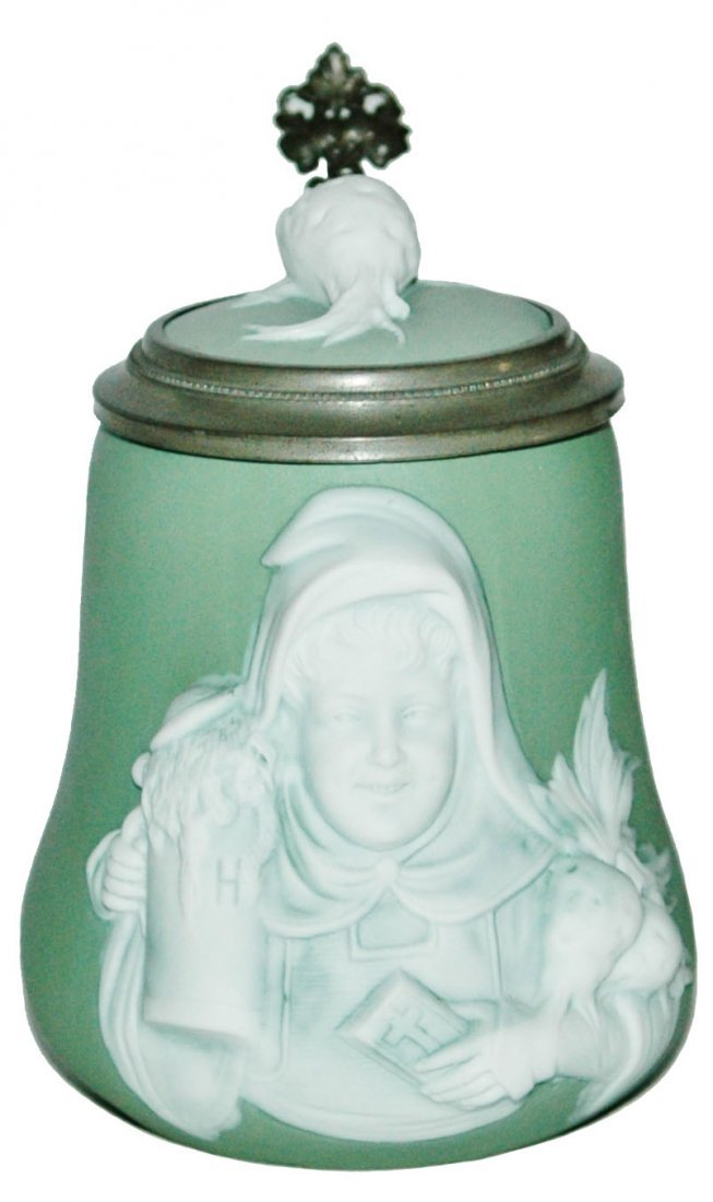 3/10L Munich Child w Bible Bohne Relief Stein