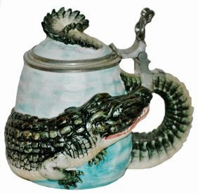 1/4L Bohne Wrap Around Alligator Character Stein