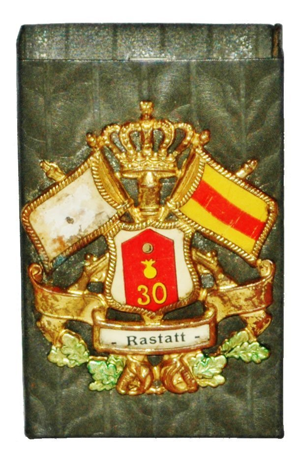 30th Artillary Rastatt Regimental Match Box cover