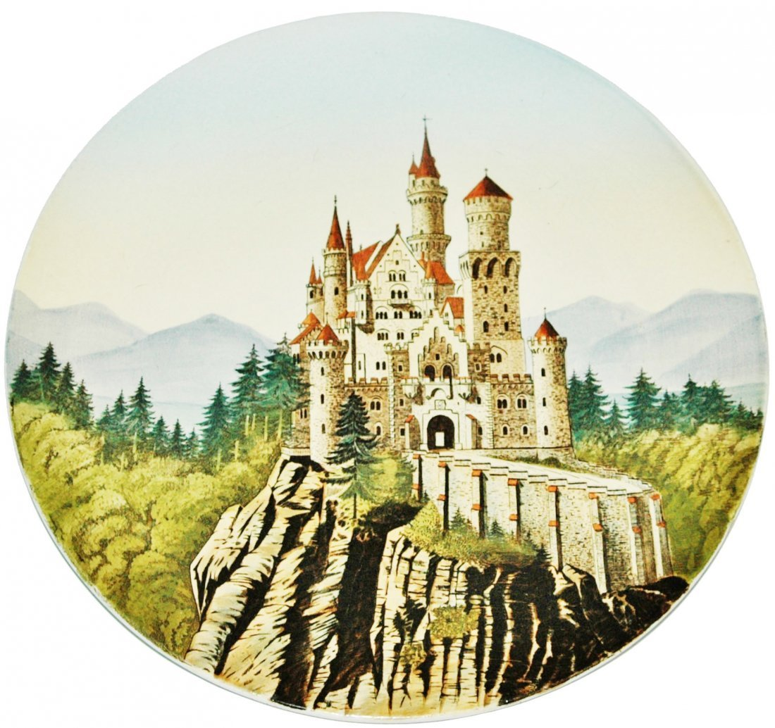 Neuschwanstein Castle Mettlach Plaque
