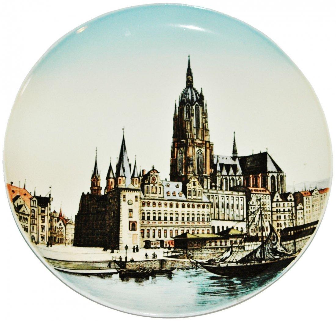 Frankfurt Cathedral Mettlach Plaque