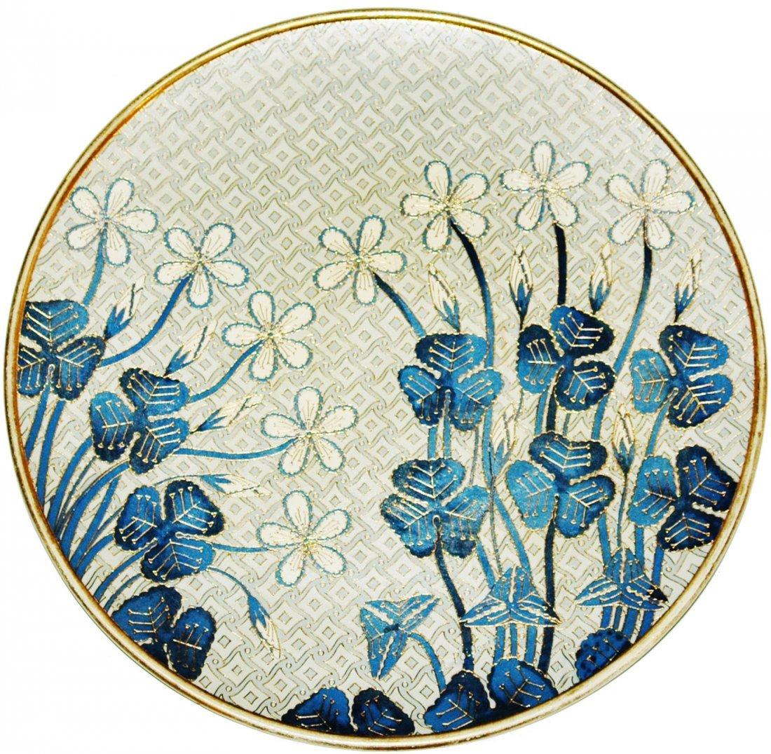 """Art Nouveau Floral Mettlach 15-1/2"""" Plaque"""