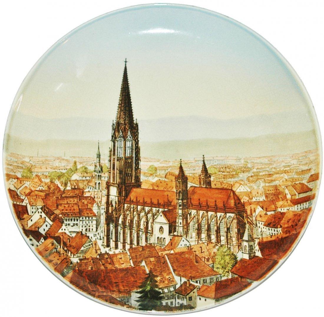 """Freiburg 12"""" Mettlach Plaque"""