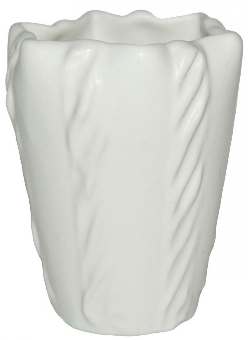 Van Briggle Tall White Vase