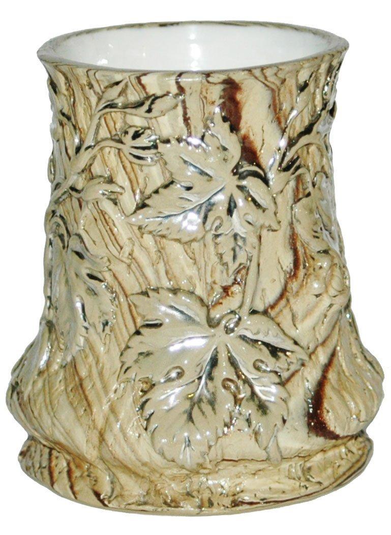 Tree Trunk Mettalch Relief Vase