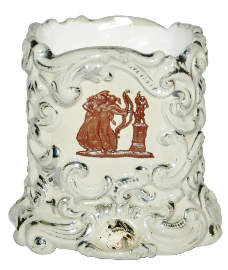 Mettlach Romanesque Scenes Relief Holder