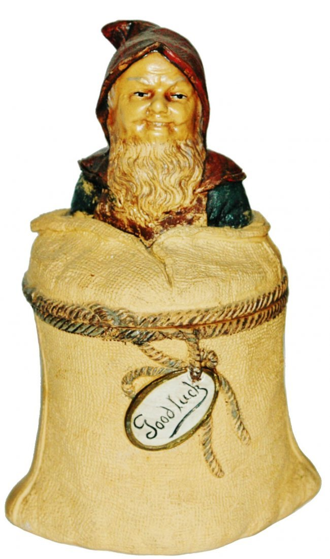 Dwarf in  Bag Terracotta Jon Maresch Tobacco Jar