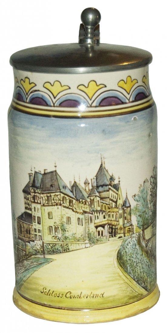 1L Austrian Faience Schloss Cumberland Stein