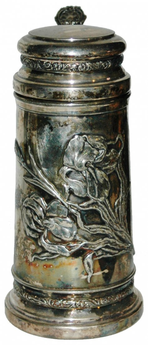 1L Apollo Silver Co Floral Relief Stein