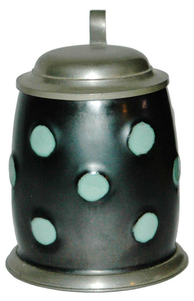 White Dots on Black Glaze Body Stoneware 1/4L Sten