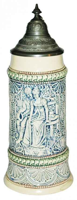 Young Couple Diesinger Relief Stein