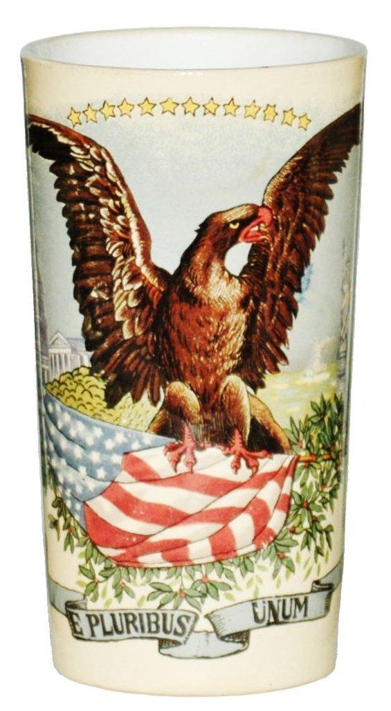 American  Eagle & Flag Mettlach Beaker