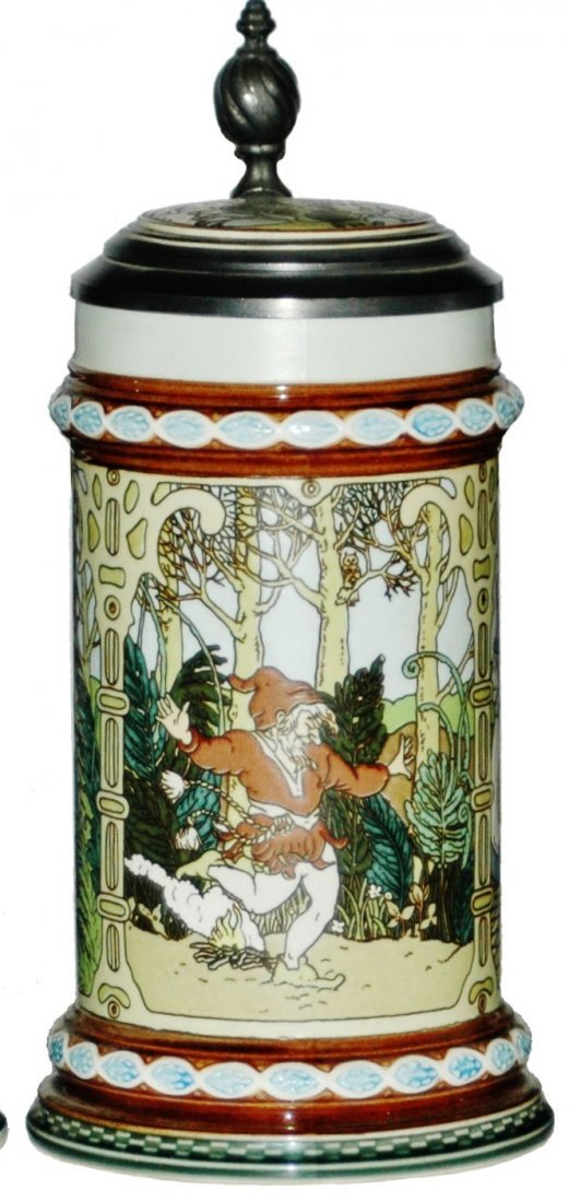 Modern Mettlach Fairy Tales Characters Stein