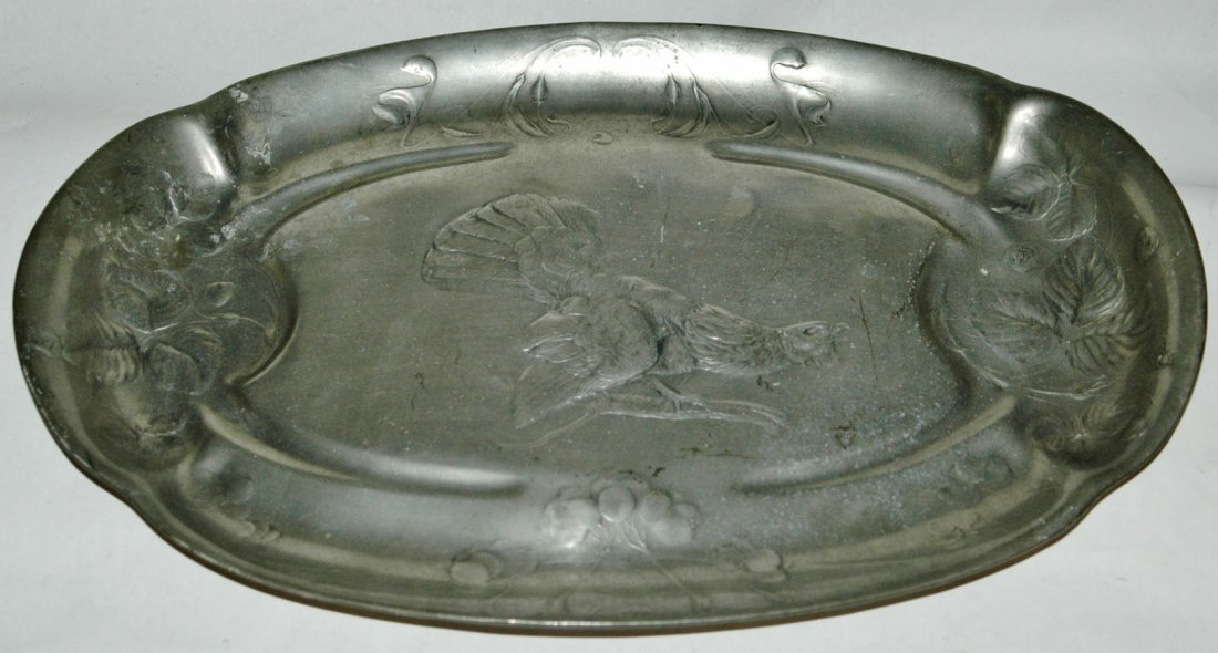 "Kayserzinn Pewter Relief 18\"" by 11 1/2\\\"" Tray"