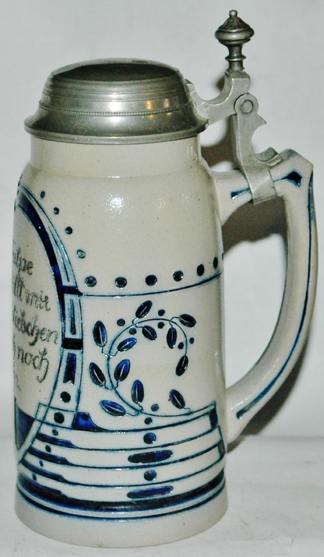 1L Stoneware Art Nouveau Design - 2