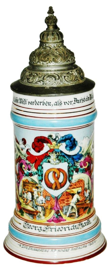 Occupational Baker Porcelain Stein