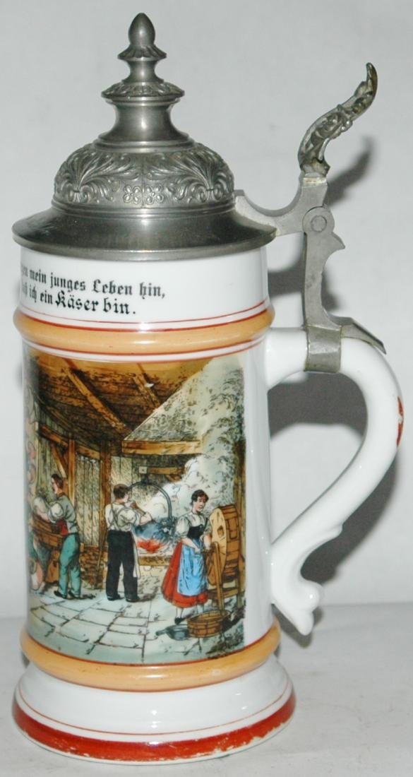 Occupational Cheese Maker Porcelain Stein - 2