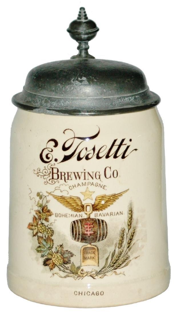 E Tosetti Brewery Mettlach Stein Chicago