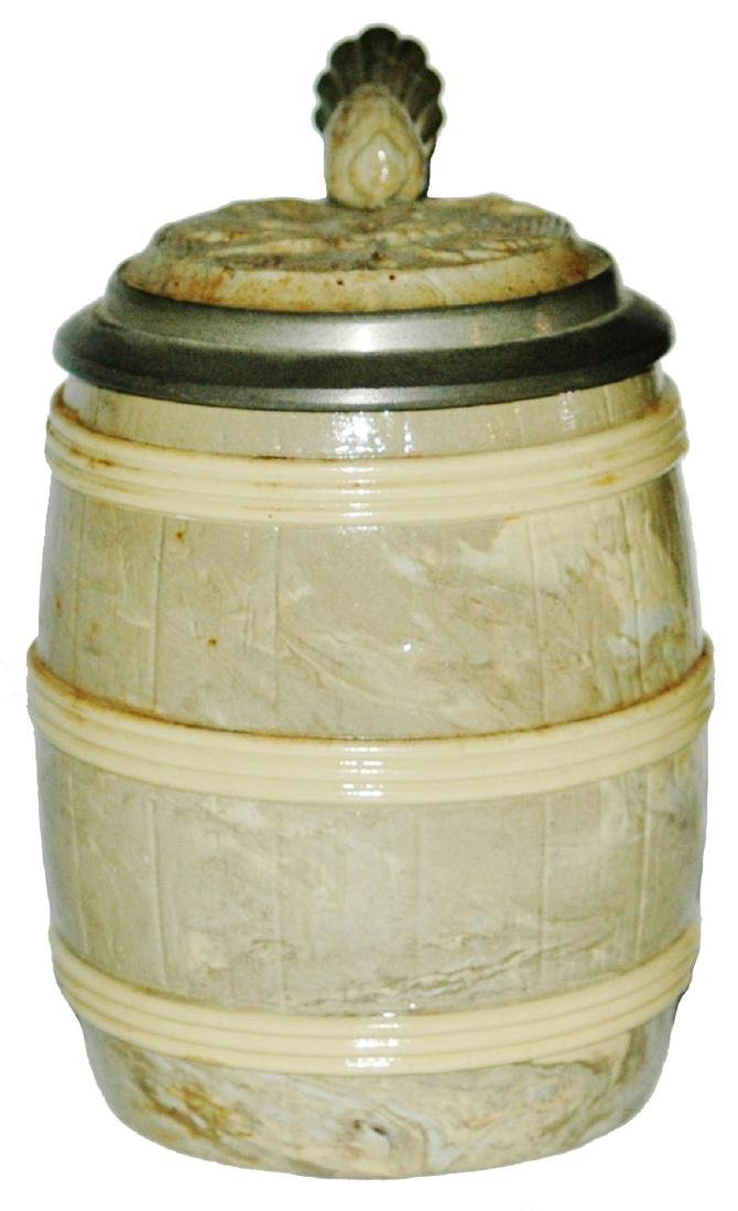 Mettlach Barrel Shaped Stein