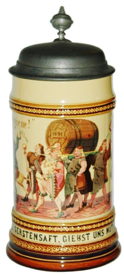 Mettlach Drinkers & Barrel Parade Stein