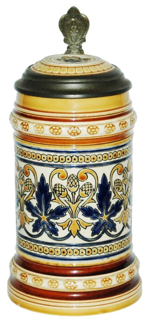 Mettlach Mosaic Floral Stein