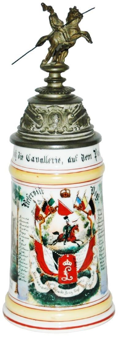 Regimental Hess Garde Drag No 23 Porcelain Stein