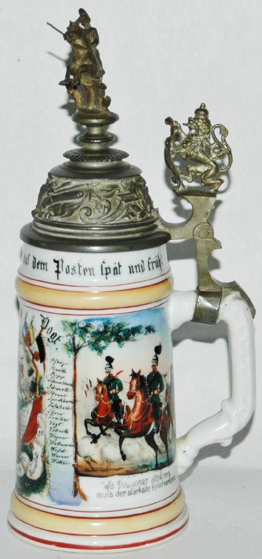 Regimental Hess Garde Drag No 23 Porcelain Stein - 3