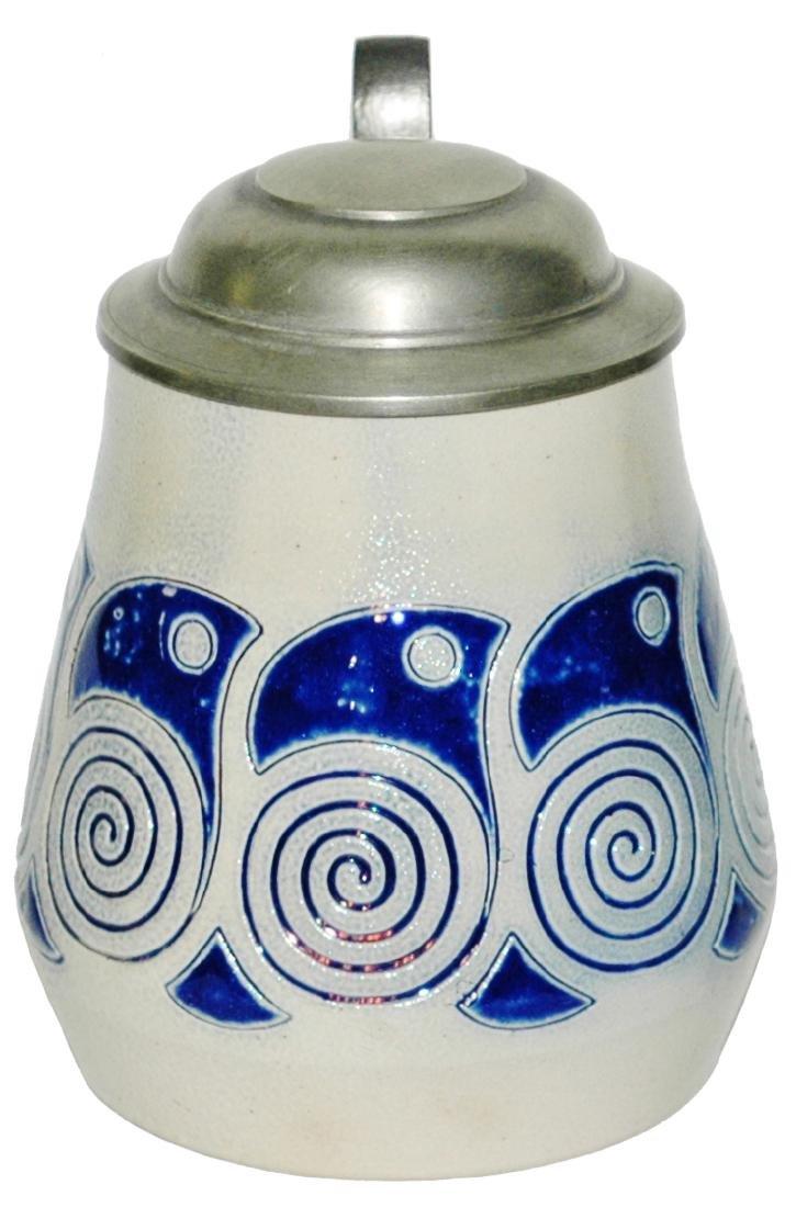 Stoneware Art Nouveau Circle Design Stein