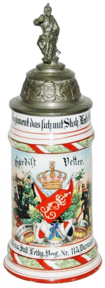 Regimental 1 Grossh Hess Inft Nr 115 Stein