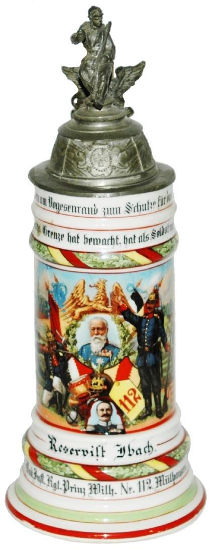 Regimental 4 Bad Inft Nr 112 Mulhausen Stein
