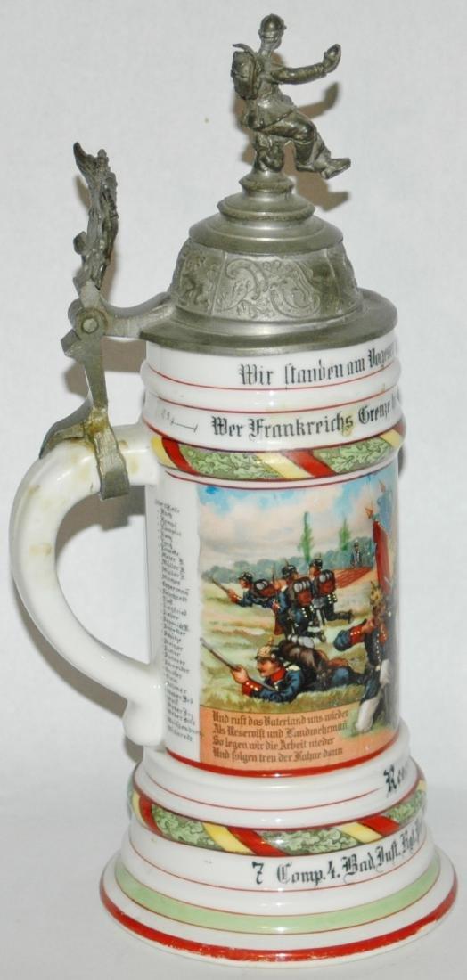 Regimental 4 Bad Inft Nr 112 Mulhausen Stein - 2