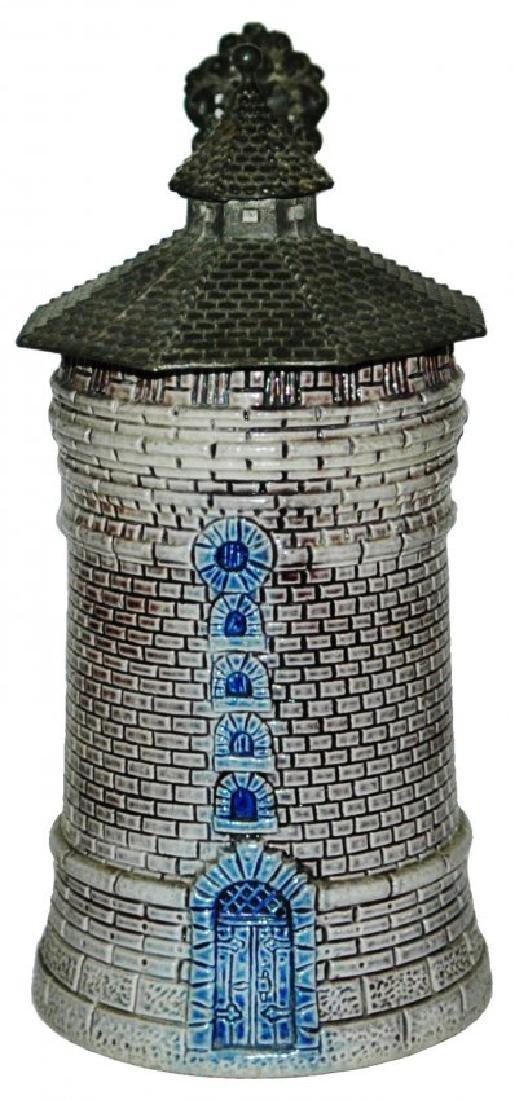 Stoneware Nurnberg Tower Character Stein