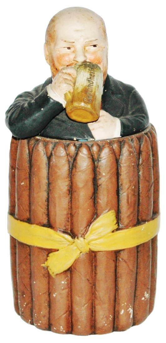 Cigar Man Jon Maresch Terracotta Tobacco Jar