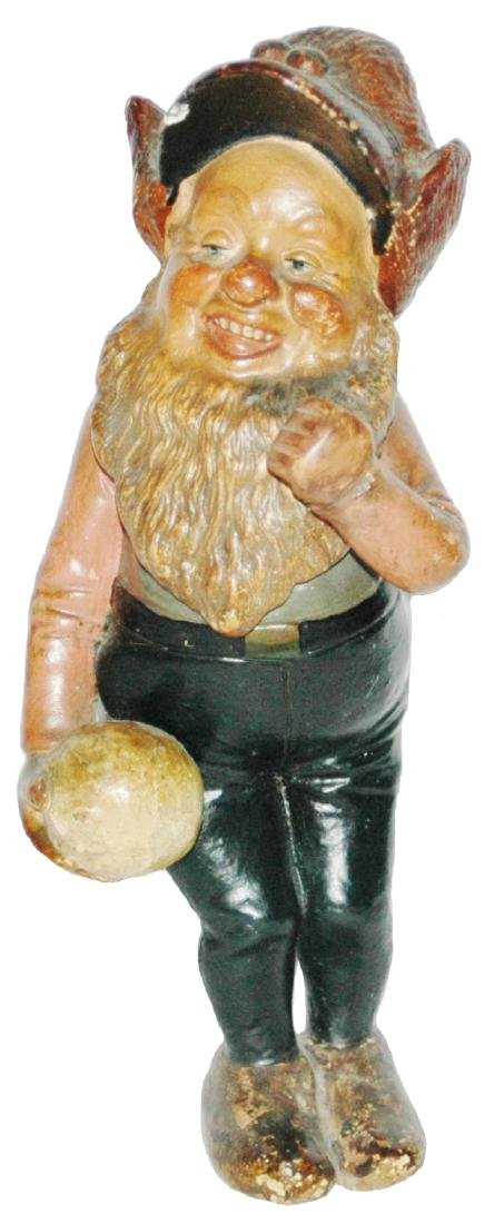 Terracotta Dwarf w Bowling Ball Figure