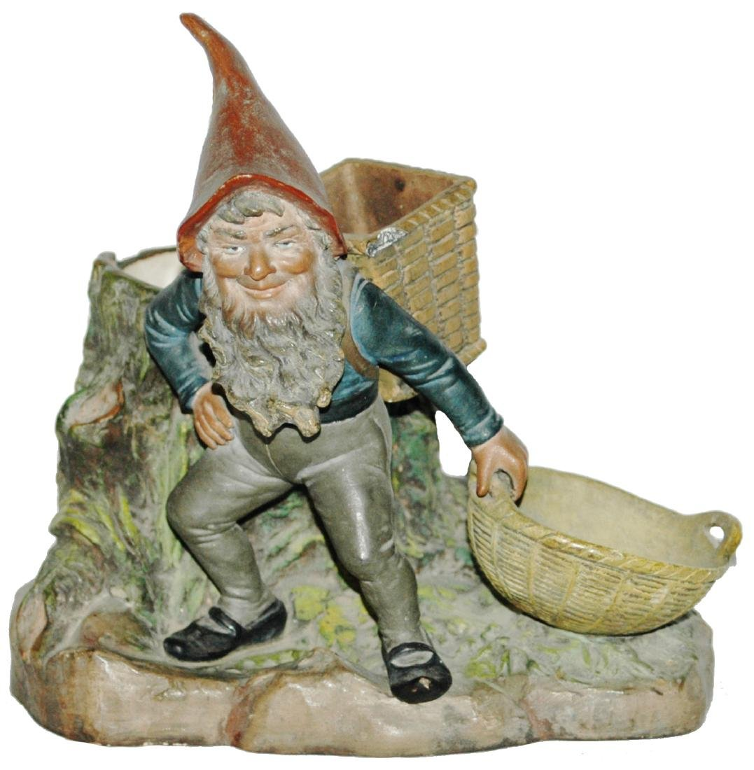 BB Terracotta Dwarf w Basket for Smokes & Striker