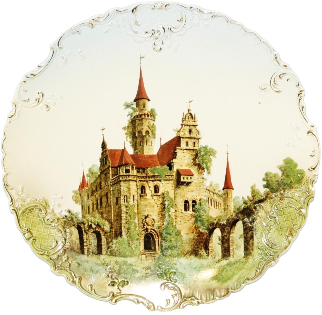 """Mettlach Castle 18"""" Plaque"""