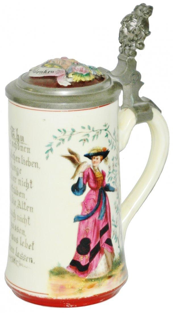 Cavalier Woman & Falcon Stein w Ludwig Litho